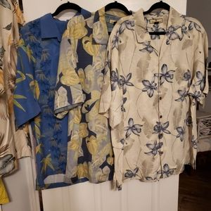7 Tommy Bahama XLG Camp lot shirts silk